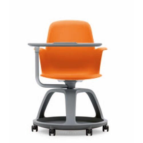 Sedia ergonomica Steelcase con tavoletta di lavoro con rotelle e ...